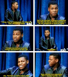When he talked about how he made the most of every moment on the Star Wars set. | 19 Times John Boyega Was Just Absolutely Perfect