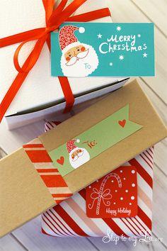 Free Printable Christmas Holiday Gift Tags for wrapping gifts