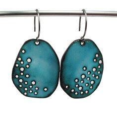 Earrings | Sterling Silver, Copper, Enamel 2009 | Aran Galligan | Flickr