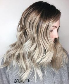 Ash Blonde Balayage For Brown Hair