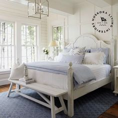 Master Bedroom Design Inspiration - Home Professional Decoration Cottage Style Bedrooms, Style Cottage, Coastal Bedrooms, Coastal Homes, Coastal Cottage, Coastal Decor, Blue Bedrooms, White Cottage, Coastal Living