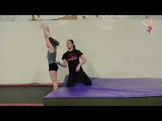 Quick drill for back handsprings - back handspring to knees