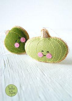 PDF Pattern  Little Acorn Squash and Green Pumpkin by sosaecaetano