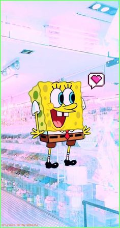 Spongebob Aesthetic Phone Wallpapers 3 In 2019 Cartoon throu