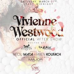 #MaddoxClub is teaming up with @larcparis this weekend to host the Official @viviennewestwoodofficial #FashionShow After-Party, in association with @modelsmajor and @byblos_official #ParisFashionWeek #PFW #WeMaddox #WeParis