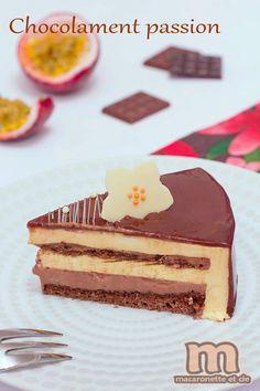 Chocolament passion - Entremets chocolat - fruit de la passion - Macaronette et cie