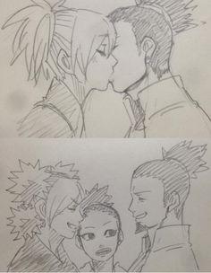 (2) Yamanaka Inojin, Shikadai, Uzumaki Boruto, Shikatema, Naruto Shikamaru Temari, Naruto Gaiden, Sasuke, Naruto Comic, Anime Naruto
