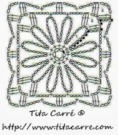 Square Primavera em crochet