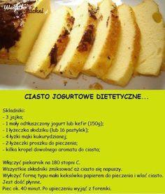 Przepis na dietetyczne ciato jogurtowe...