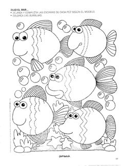 mar - Emma Marty - Álbuns da web do Picasa Colouring Pages, Coloring Pages For Kids, Coloring Sheets, Coloring Books, Tracing Worksheets, Preschool Worksheets, Motor Activities, Activities For Kids, Pre Writing