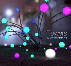 3D flowers #render #cinema4d #art #design #c4d  #3d #instagram #instamoment #work #texture  #like #instagood #instalike  #amazing #cute #good  #beauty #model #realistic #instacool #bnx4d #street #floor #colors #flowers #neon #urban #light by bnx4d