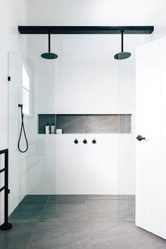 Bathroom shower tile ideas are a lot in choices. Grab some inspirations here and check out these shower tile ideas to revamp your old bathroom shower! Bathroom Renos, Bathroom Flooring, Bathroom Renovations, Small Bathroom, Bathroom Ideas, Bathroom Grey, Bathroom Tiling, Bathroom Showers, Bathroom Cabinets