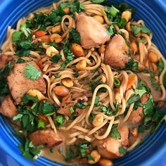 Chicken, noodles & broth
