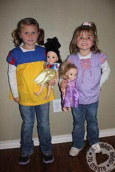 Disney Princess blouses tutorials on http://myinnerneedtocreate.blogspot.com/2013/04/casual-princesses.html