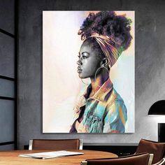 African-American Woman Vector Art, Melanin Art, 7 Beauty Woman, African Art,  Black Lives Matter, Housewarming Gift, Black Woman Art Comic Poster, New Poster, Arte Black, Black Women Art, African American Women, Home Wall Art, Beautiful Artwork, African Art, Female Art