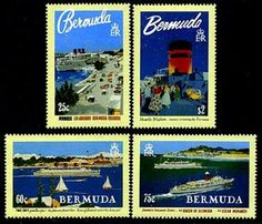 Bermuda Cruise Ships Stamps Cruise Ships, Postage Stamps, Baseball Cards, Stamps