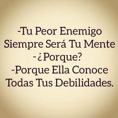 Tu peor enemigo #Instagram de #proZesa Instagram frases instagram proZesa