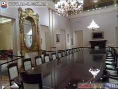 Salón comedor de la Casa Rosada