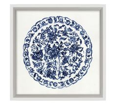 Intricate patterns in blue and white evoke porcelain plates in this watercolor artwork. Giclee reproduction on paper is designed in a Pine frame with a matte white edge. D-ring mounting. Sold as a set of four or sold individually. Blue White Kitchens, Blue Tapestry, Nautical Pattern, Pottery Barn Inspired, Mirror Art, Watercolor Artwork, Custom Rugs, Tile Patterns, Decorative Pillows