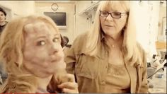 Glimmer doing makeup :3 I honestly cannot look at her w/o seeing her as Clarisse in PJO XD