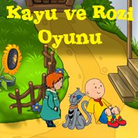 Kayu ve Rozi Caillou,Kayu,kayu,yumurcak tv,video,seyret,çocuk,öğren, izle,çizgi film,Cizgifilm in,Caillou Kayu oyunları