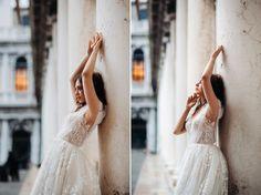 panna młoda w Wenecji Lace Wedding, Wedding Dresses, Fashion, Fotografia, Bride Dresses, Moda, Bridal Gowns, Fashion Styles