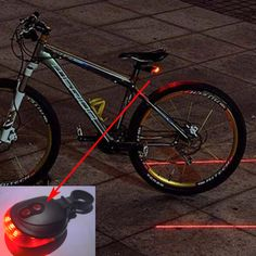 18fd8976779 Bicycle 5 LED Light 2 Lasers Night Mountain Bike Tail Light Taillight MTB  Safety Warning Bicycle