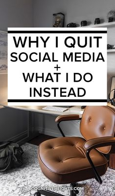 Why I quit social media and what I do instead - cognitive heights Unplugged: a social media detox - livelyAre you addicted to social media? Sometimes it feels like social media has taken over our Delete Social Media, Quitting Social Media, Social Media Break, Social Media Detox, Social Media Quotes, Addicted To Social Media, Quit Facebook, Digital Life, Detox Challenge