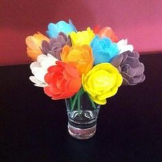 Melissa made a colourful bouquet of Plastimake roses.