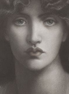Dante Gabriel Rossetti, Study of Jane Morris for 'Mnemosyne' (detail), 1876 | JV