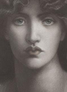 Dante Gabriel Rossetti, Study of Jane Morris for 'Mnemosyne' (detail), 1876 | JV