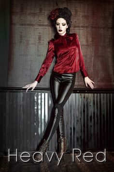 Heavy Red Mistress Riding Pants