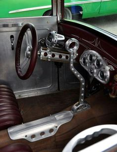 1000 images about car interiors on pinterest rat rods ford and steering wheels. Black Bedroom Furniture Sets. Home Design Ideas