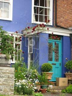 casa pintada de azul | Descargar Fotos gratis