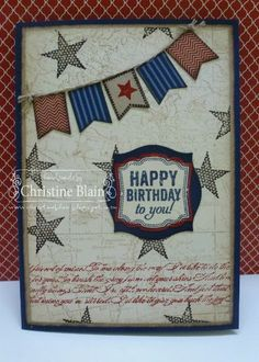 HAPPY HEART CARDS: STAMPIN' UP! BANNER BLAST MASCULINE CARD