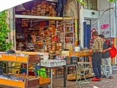 Guide to the Monastiraki Flea Market in Athens (Go early on a Sunday and don't forget about the sandal guy! Athens Shopping, Sunday Flea Market, Fleas, Don't Forget, Greece, Sandal, Guy, Europe