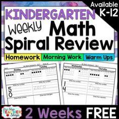 Kindergarten Math Review   Kindergarten Math Homework Kindergarten Morning Work ... ,  #Homework #Kindergarten #KindergartenMorningWork #Math #Morning #Review #Work Kindergarten Drawing, Kindergarten Homework, Kindergarten Morning Work, Spiral Math, Math Concepts, Common Core Standards, Math Centers, Teacher, Geometry
