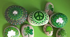 Happy March I love painting Shamrocks and green peace rocks! Got some extra green paint this month! Cheers to St. Patty's...