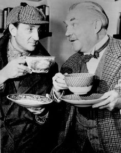 Even Sherlock Holmes (Basil Rathbone) takes time for Tea.