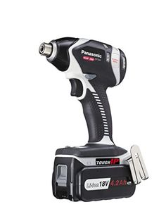 Panasonic EY75A1LS2G Cordless Impact Driver Kit with Dual Voltage Technology 18-volt Battery Pack Includes 2 – 4.2Ah Lithium Ion Battery, Charger and Carrying Case
