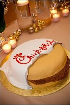 Chick-fil-A grooms cake! Unique Cakes, Creative Cakes, Chick Fa La, Funny Birthday Cakes, Birthday Ideas, 15 Birthday, Beautiful Cakes, Amazing Cakes, Eat More Chicken