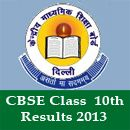 CBSE class 10 results 2013 has been declared by the Central Board of Secondary Education (CBSE) for all the regions today on May 30.  The result of CBSE 10th 2013 is now available on the official website of CBSE at http://cbseresults.nic.in/.