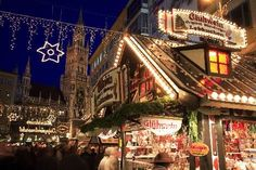 ♥ A favorite stop at a German Christmas market ... the Glühwein stands ... so warming and so good! (Shown: the main Rathaus Christmas Market in Munich)