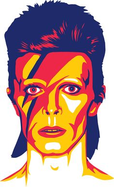 David Bowie as Ziggy Stardust: 2 Icons in 👨‍🎤 David Bowie Poster, David Bowie Art, Illustration Art Nouveau, Pop Art Illustration, Art Illustrations, Arte Aladdin, Poster Harry Potter, Art Visage, Pop Art Drawing