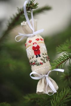 A Santa for the tree. Repinned by www.mygrowingtraditions.com