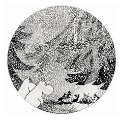 "Moomintroll plate ""The meeting"" by Petit Jour Paris ~ Banditten"