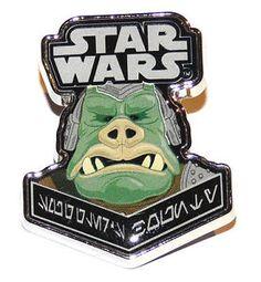 Star Wars Smuggler's Bounty Souvenir Pin Badge Gamorrean Guard Mint Condition