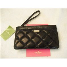 ❤️NWT Katespade wristlet wallet MSRP $168❤️ Quilted black wallet , very classy kate spade Bags Clutches & Wristlets