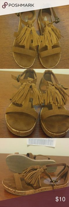 Mossimo Tan Suede Tassel Fringe Sandals Tan Suede tasseled sandals from Mossimo by Target. Only worn twice and in perfect condition. Size 6.5. Mossimo Supply Co Shoes Sandals