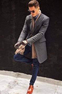 Men Clothing 40 Winter Boots For Men. men's fashion and style. Men ClothingSource : 40 Winter Boots For Men. men's fashion and style. Mens Winter Coat, Mens Fall, Fall Winter, Winter Gloves, Winter Wear, Winter Season, Winter Style, Sharp Dressed Man, Well Dressed Men